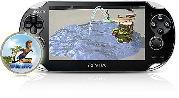 Cliff Diving AR Game for PS Vita