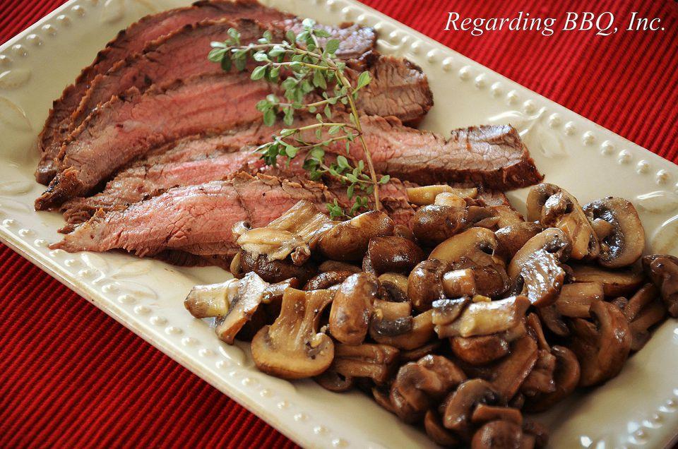Flank Steak with Mushrooms