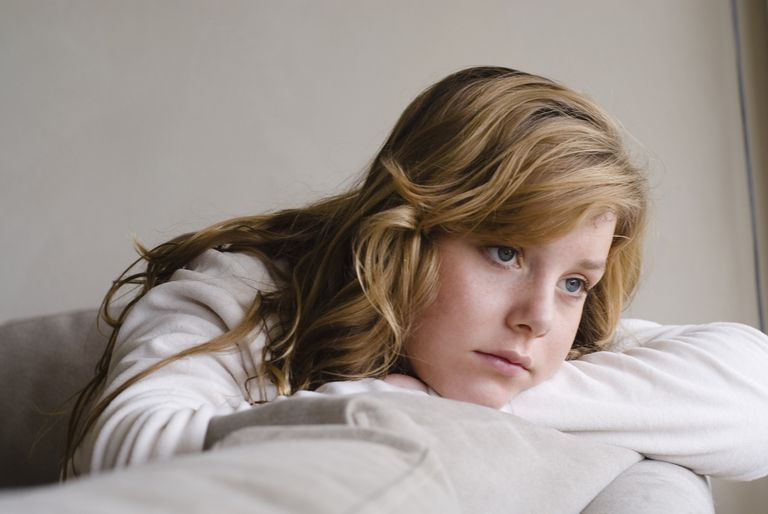 Portrait of strawberry blonde teen
