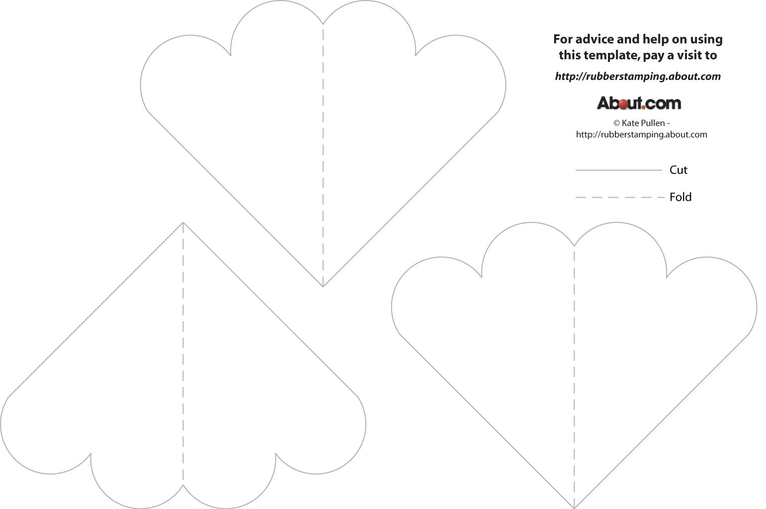 free template for heart book rubber stamps