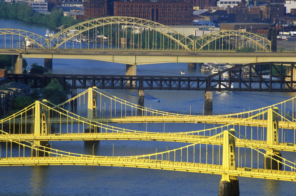 Bridges over the Allegheny River, Pittsburgh, PA