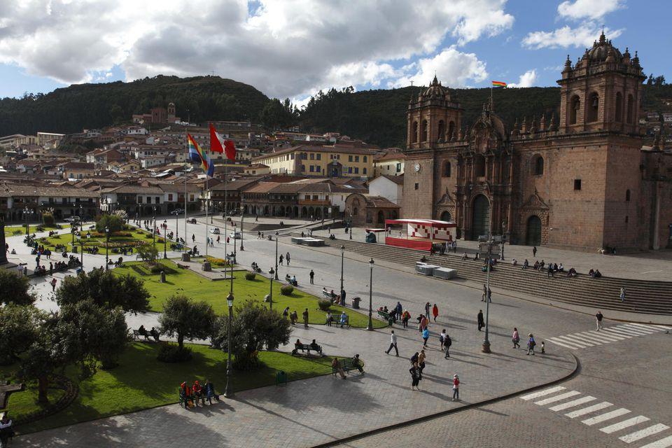 Cuzco square, Cuzco, Cuzco Cathedral