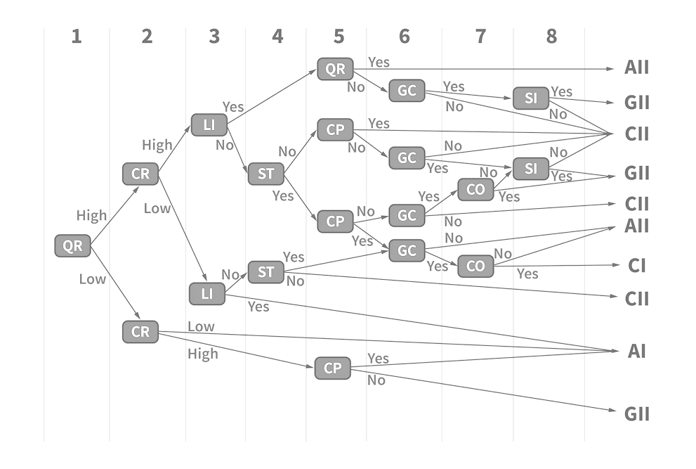 Decision tree for decision making