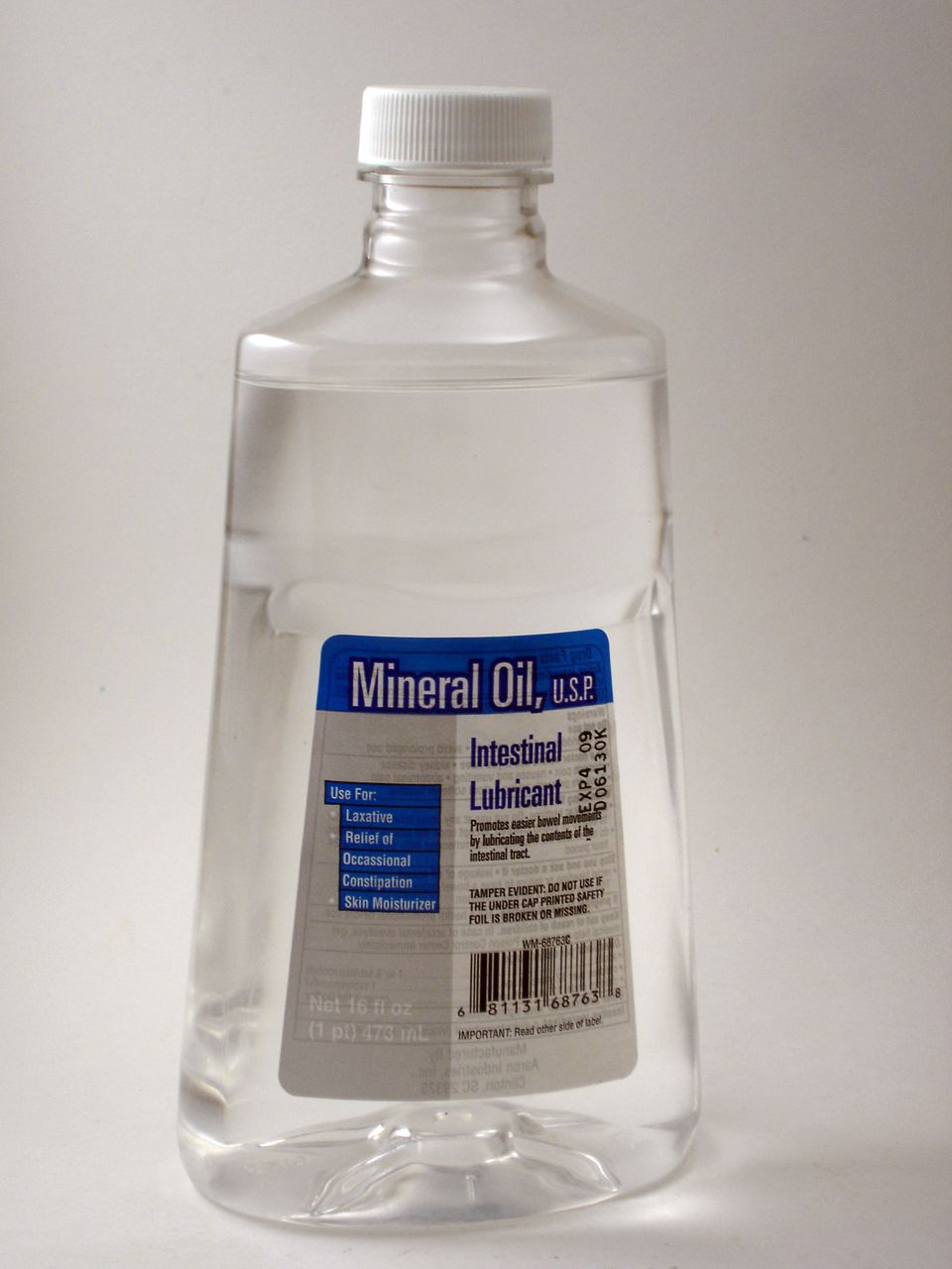 Bottle of mineral oil