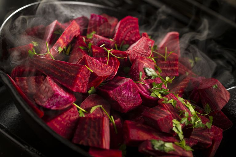Diced beetroot
