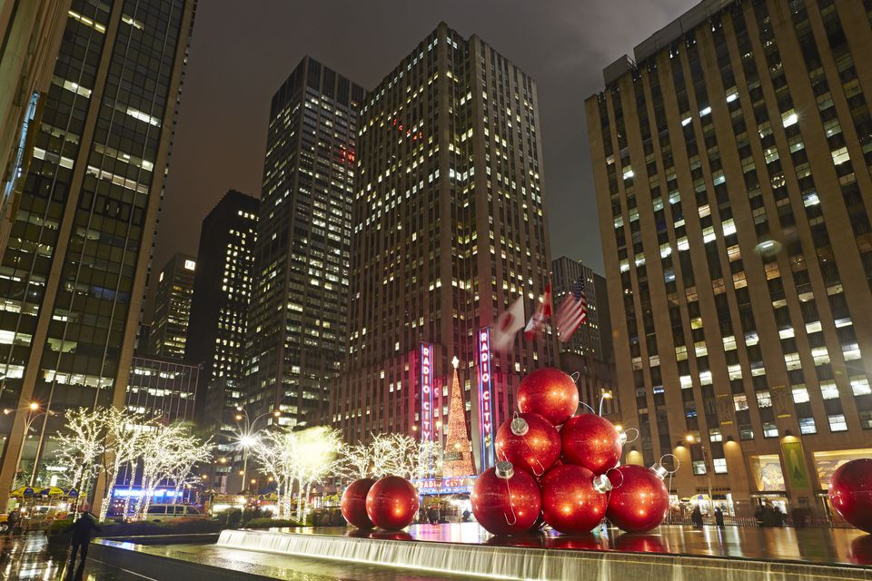 Rockefeller Center with Christmas decorations