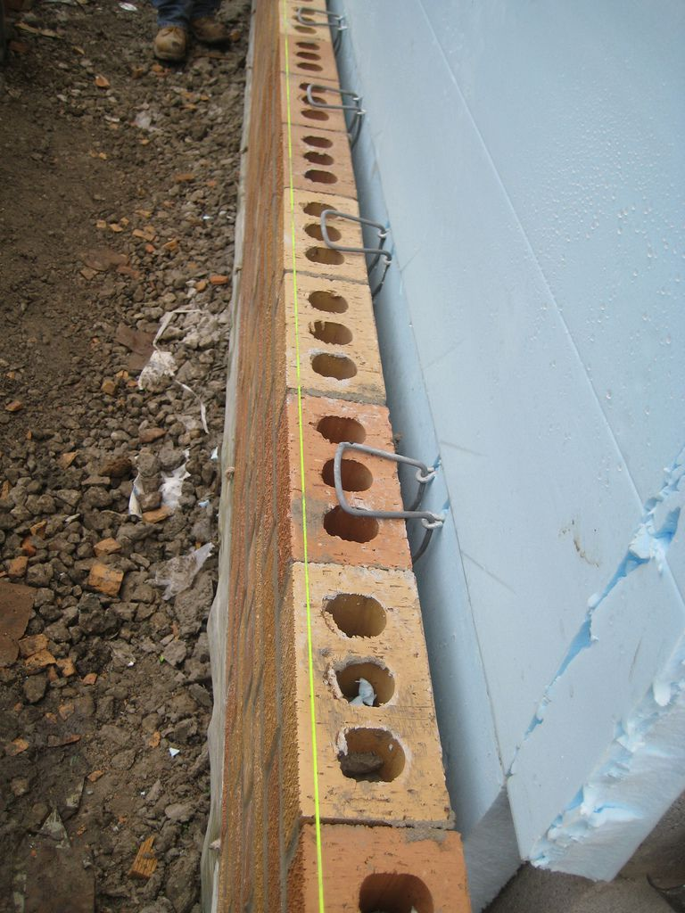 How to install a brick veneer on an exterior wall for What is brick veneer siding