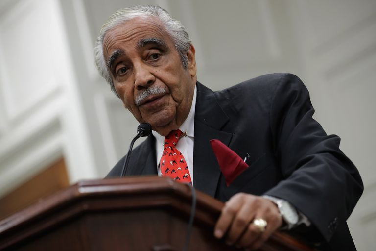 US Rep. Charles Rangel addressing the House
