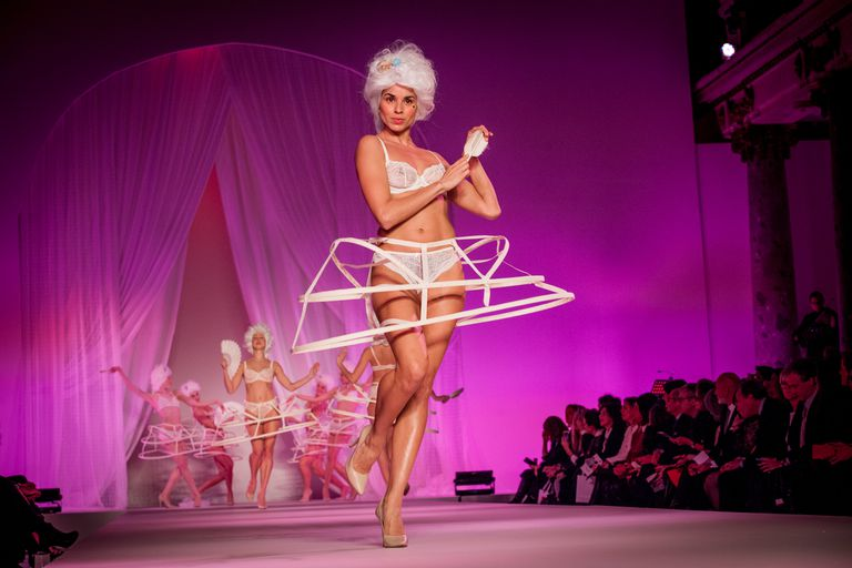 French lingerie fashion show