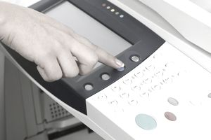 Hand and printer control panel