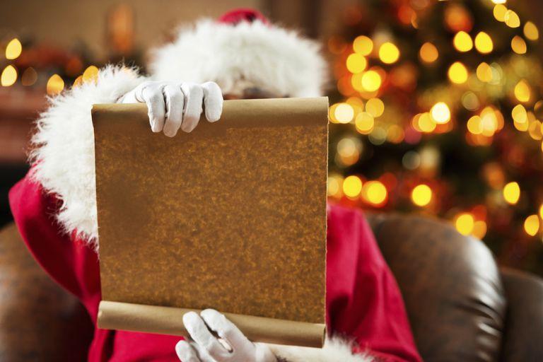 Santa Claus with a wish list