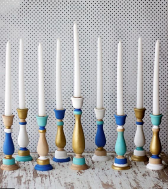 DIY Menorahs for Fresh Look on Hanukkah