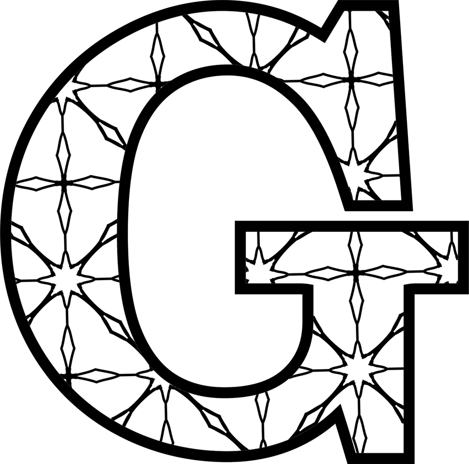 Free printable alphabet letters coloring pages for Free printable letter g coloring pages
