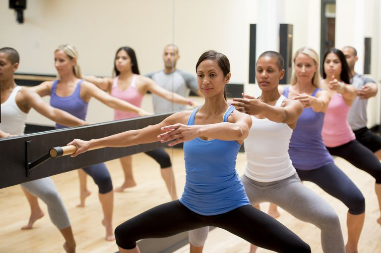 Using a barre and performing a Plié