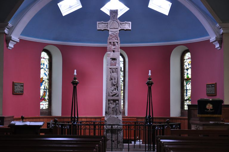 The South face of the Ruthwell Cross as seen from Murray's Aisle