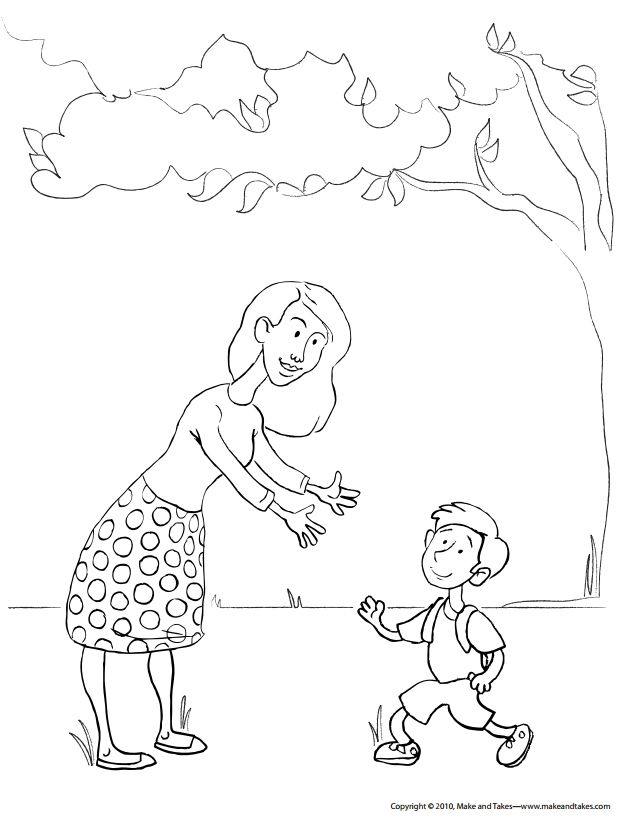 Make And Takes Free Mothers Day Coloring Pages