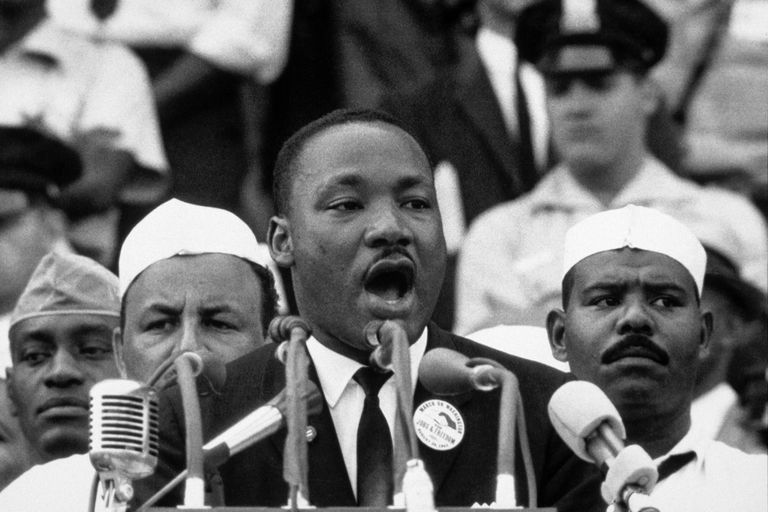 Martin Luther King Jr. making 'I Have a Dream' speech
