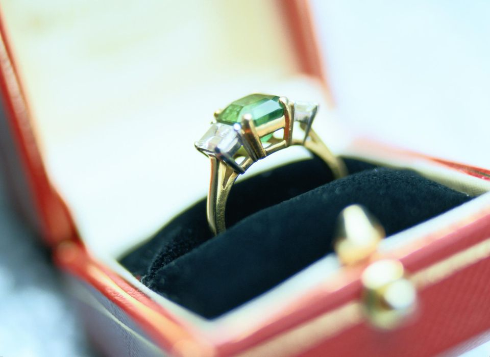 Close-Up of an Engagement Ring