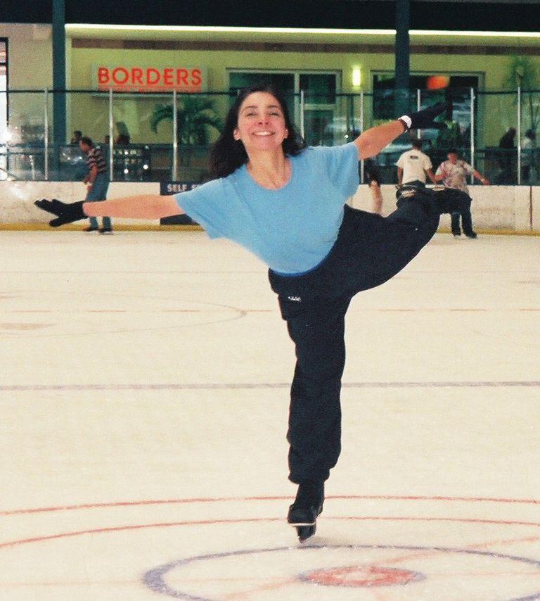 A Spiral on Ice Hockey Skates