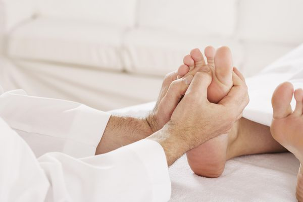 Person getting a foot massage