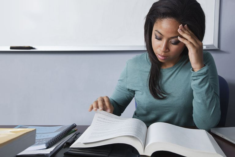 Student studying for the Bar exam