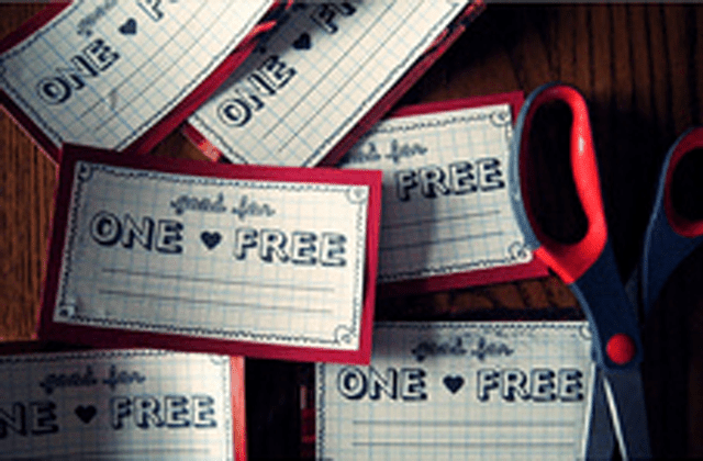 Free customizable coupons for loved ones