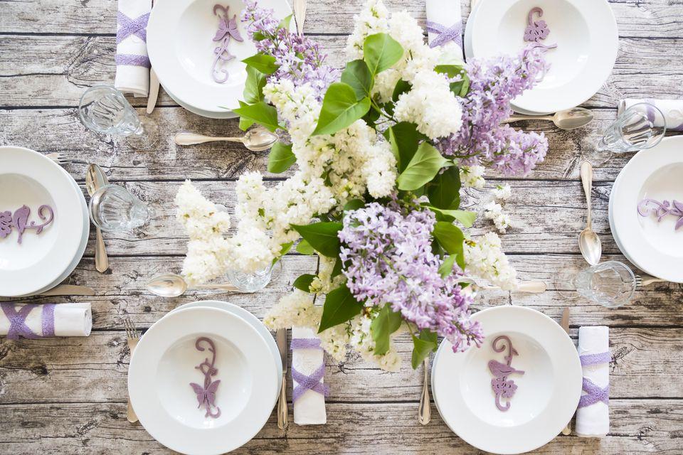 spring dinner table
