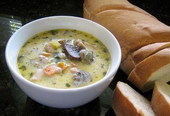 Homemade Creamy Chicken And Mushroom Soup