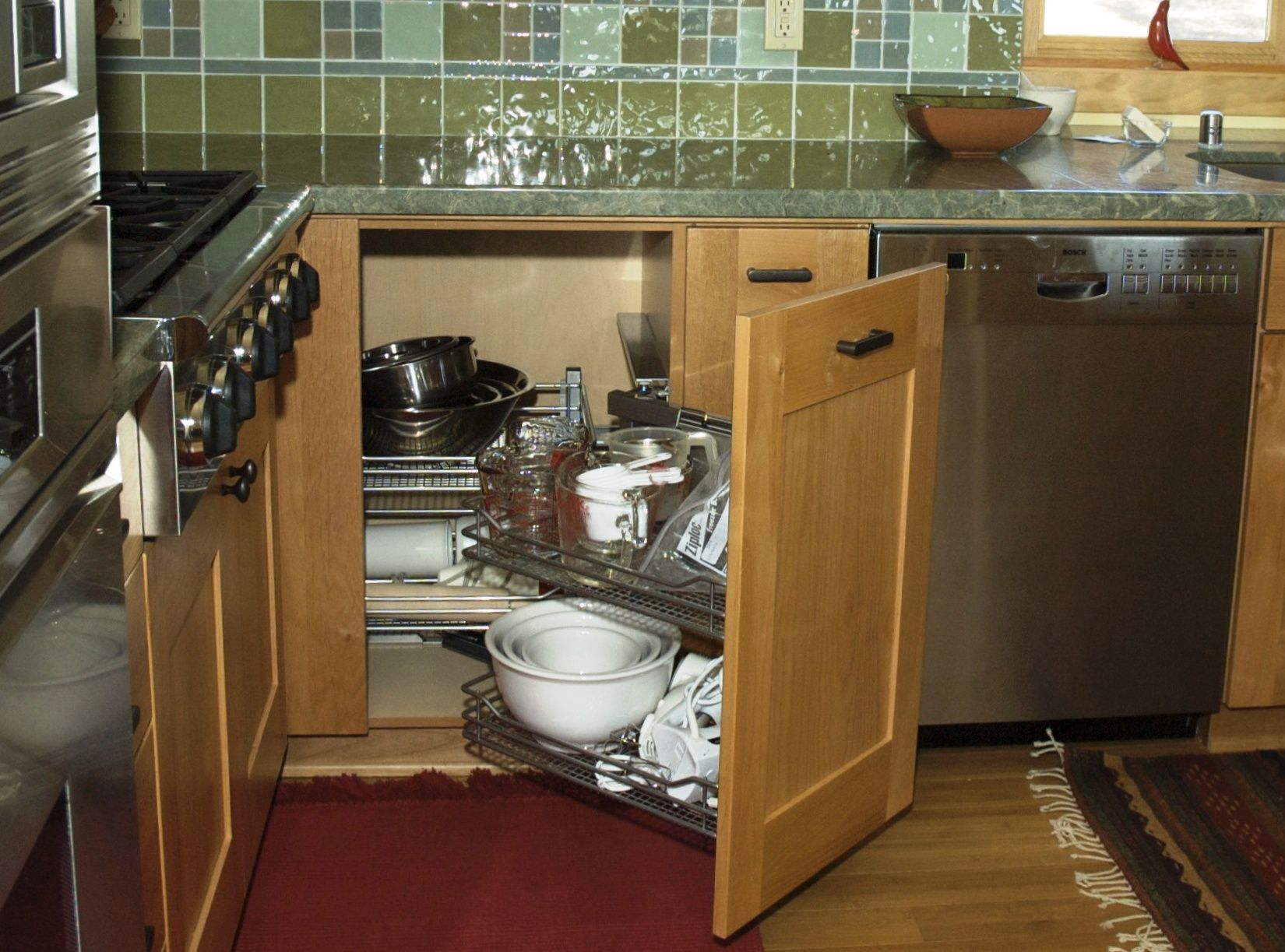 how to make your blind corner cabinet more functional