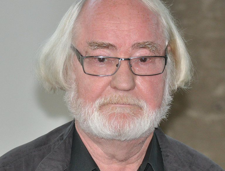 White-haired Juhani Pallasmaa, Finnish Architect and Educator