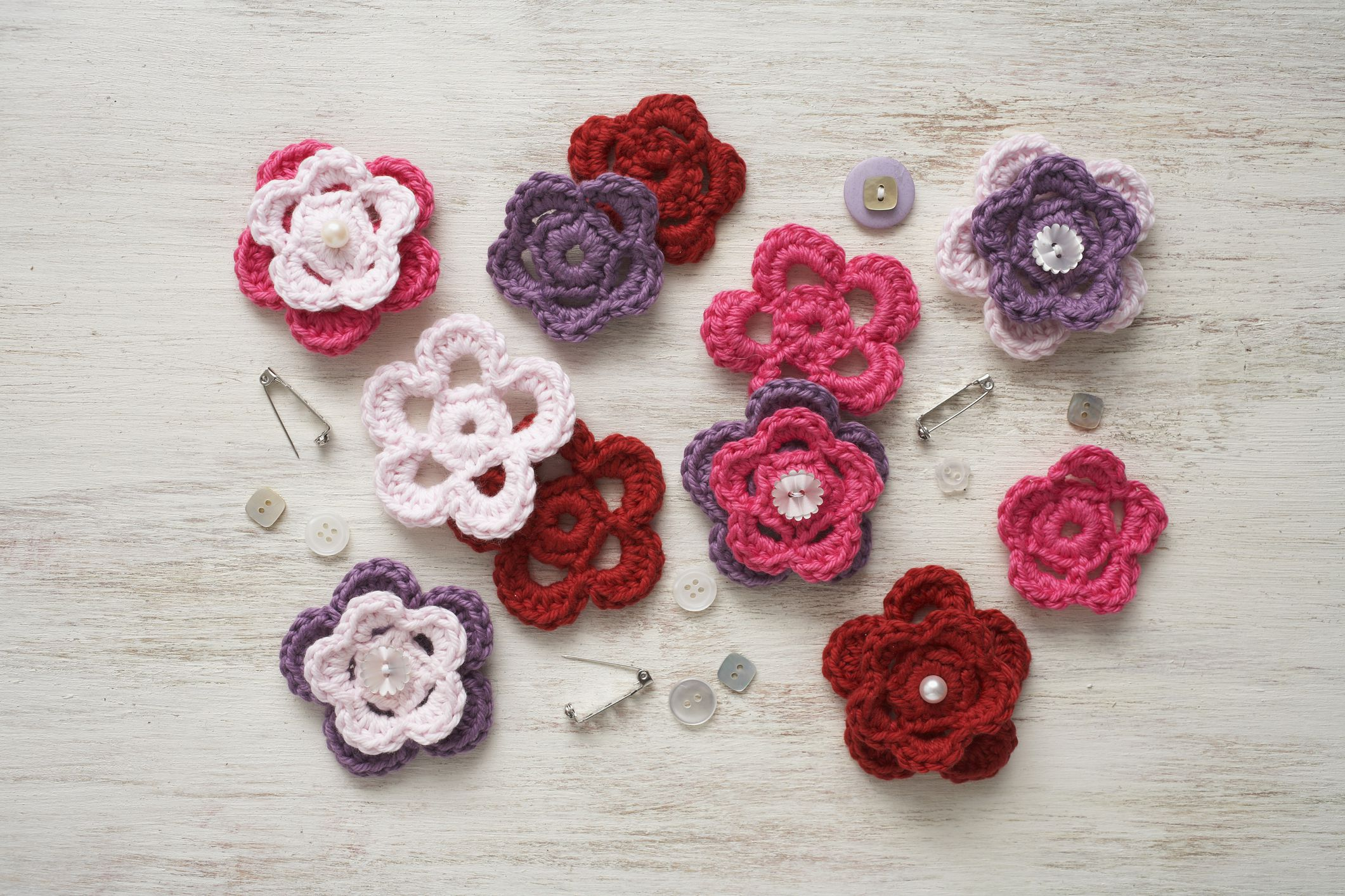 Mini Crochet Flower Pattern