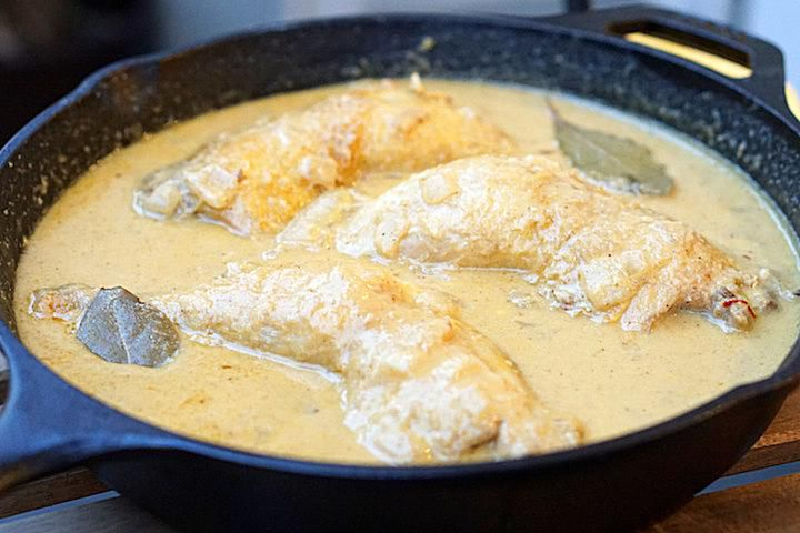 Pollo en pepitoria recipe