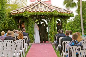 9 unique las vegas wedding venues for adventurous couples flamingo gazebo wedding las vegas courtesy of harrahs flamingo las vegas junglespirit Gallery