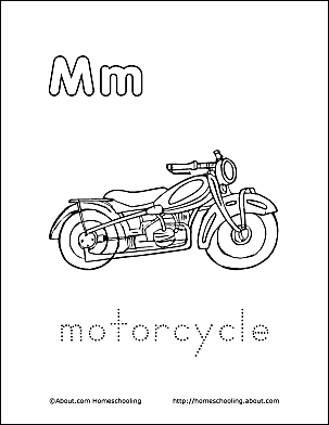 Print The Pdf Motorcycle Coloring Page And Color Picture Use Your Back Button To Return This Choose Next Printable Sheet