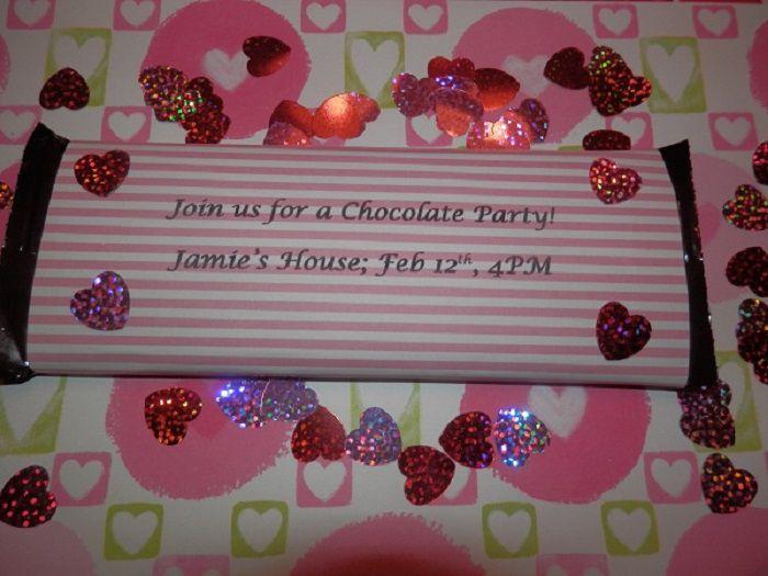 Candy bar invitation