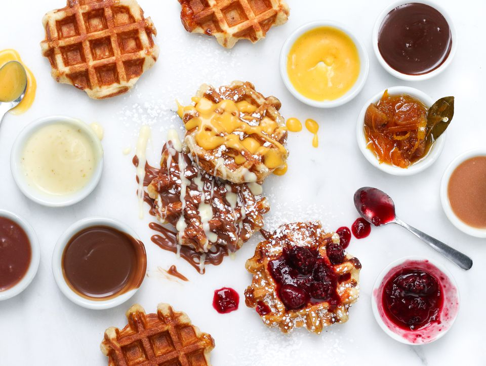 Brunch waffles in Vancouver