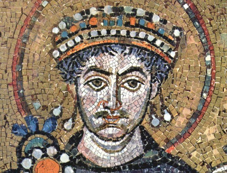 Mosaic of Emperor Justinian