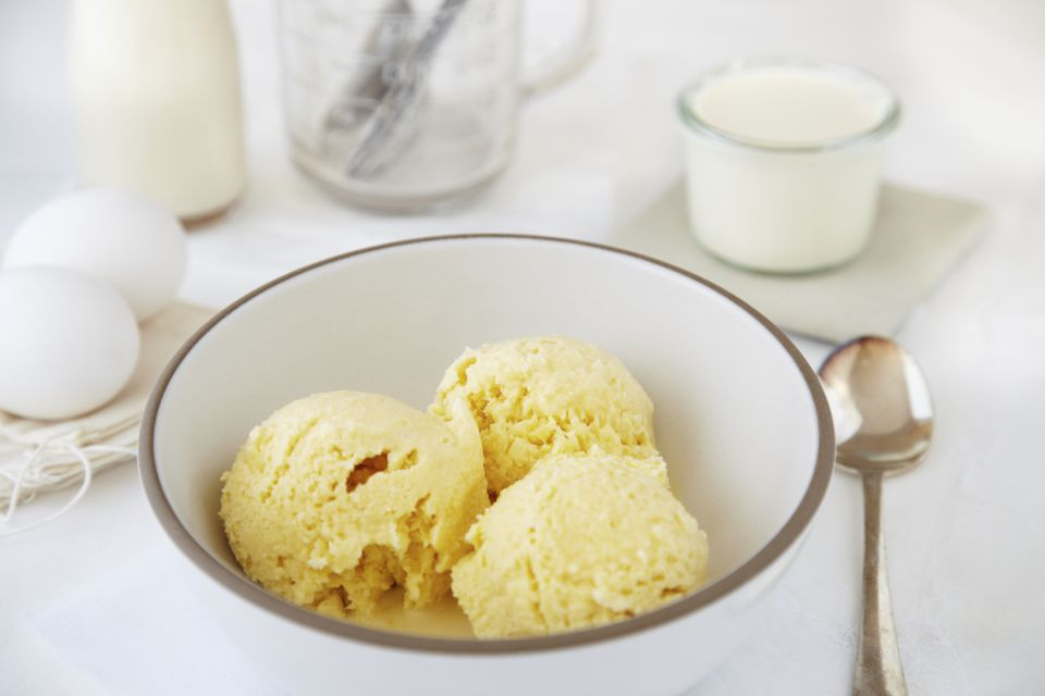 Making custard base ice cream in an ice cream machine how to make ice cream ccuart Image collections
