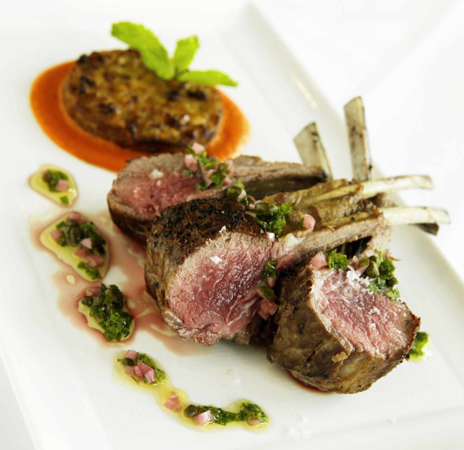 Rack Of Lamb With Herb Caper Sauce Recipe