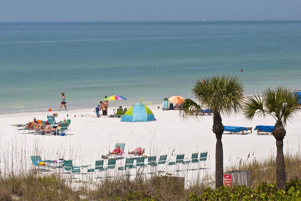 Seascape with beach, Siesta Key, Crescent Beach, Sarasota, Florida, USA