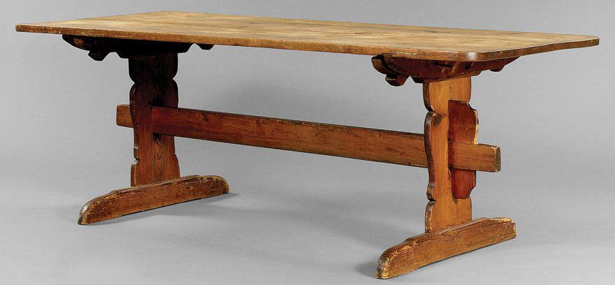 pennsylvania pine trestle table - Antique Dining Table