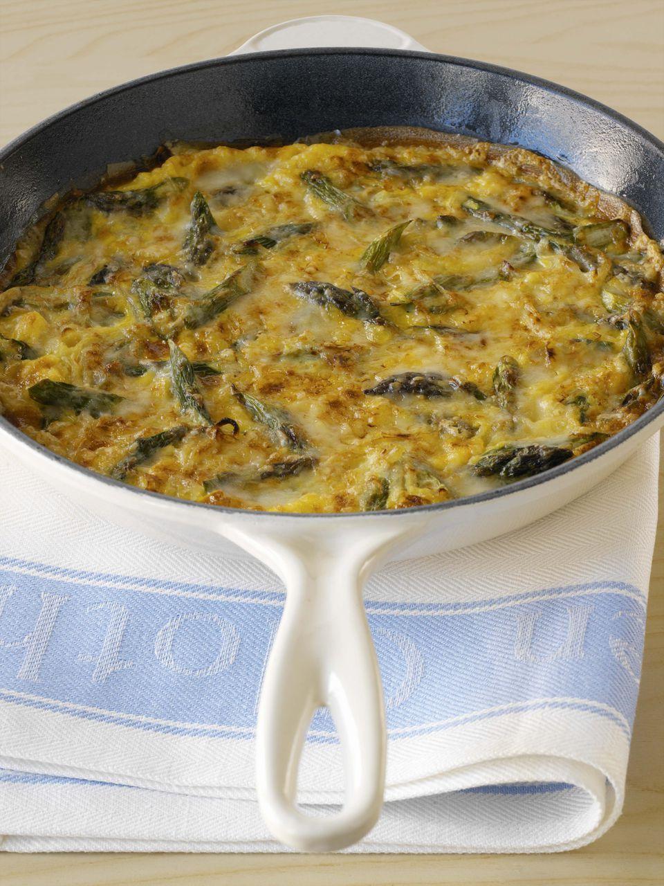 Lamb and asparagus frittata