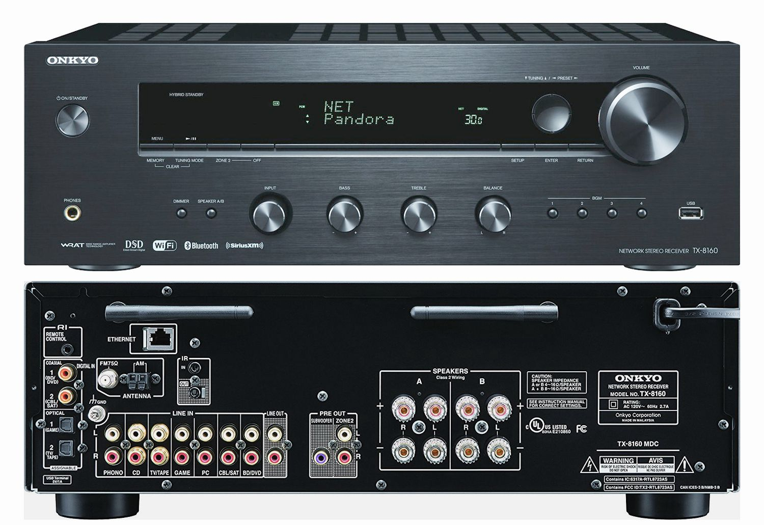 a look at the onkyo tx 8160 network stereo receiver. Black Bedroom Furniture Sets. Home Design Ideas