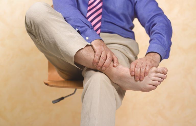 man with gout
