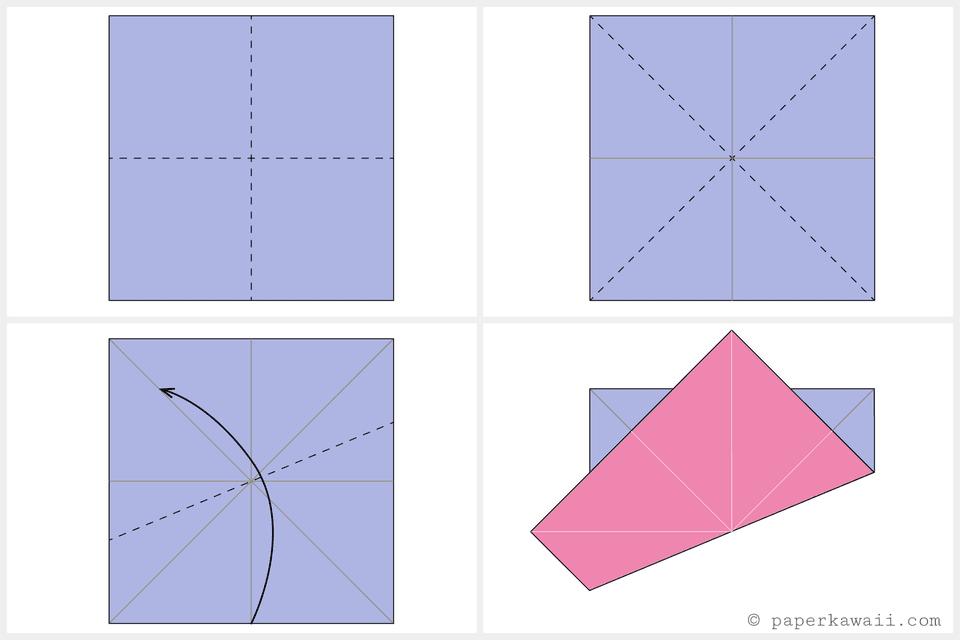 Origami Octagonal Tato Diagram 2