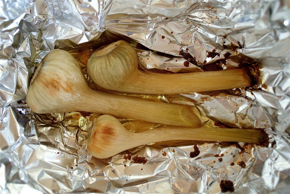 Roasted Green Garlic