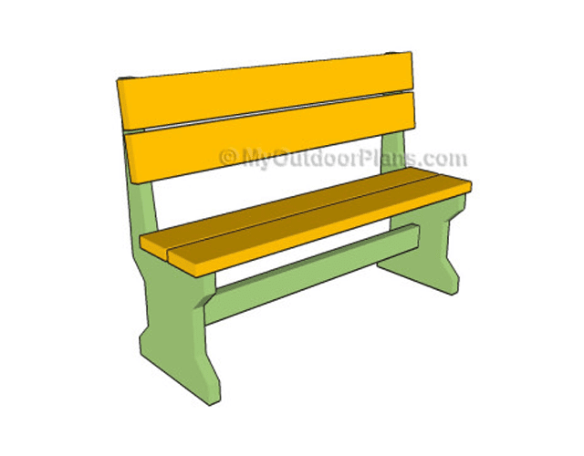 Free Bench Plan at MyOutdoorPlans15 Free Bench Plans for the Beginner and Beyond. Outdoor Bench Project Plans. Home Design Ideas