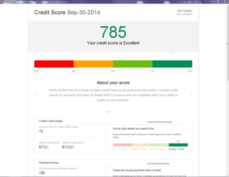 Quicken 2015 adds quarterly credit score reports.