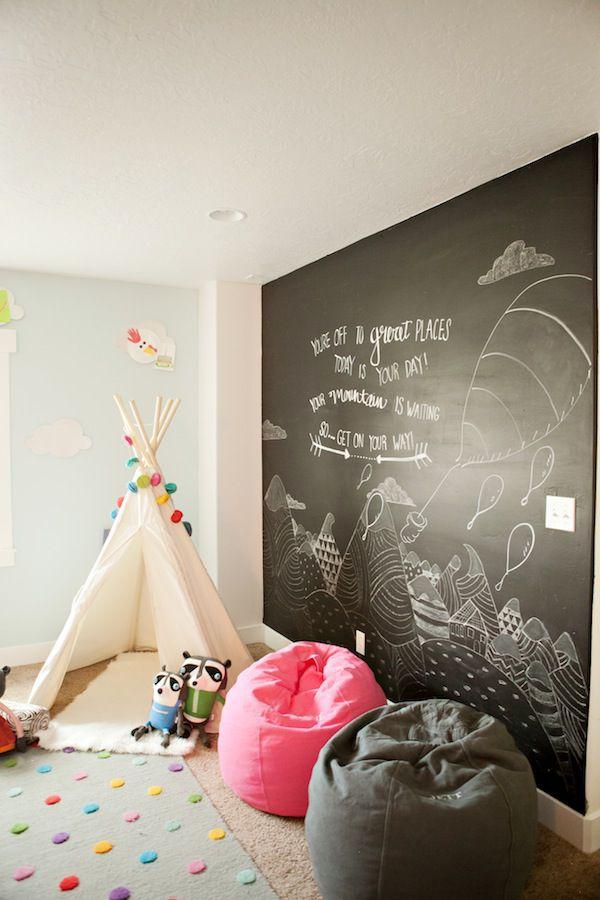 chalkboard mural kids' room