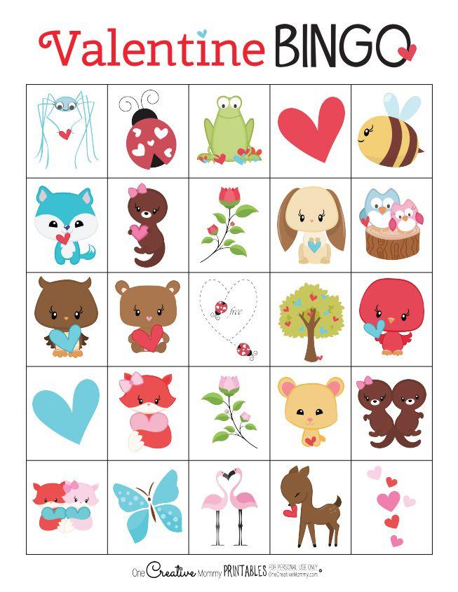 one creative mommys valentine bingo cards - Valentine Bingo Cards